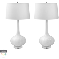 Picture for category Dimond Lighting 242/S2-HUE-B Table Lamps White Ceramic Del Mar