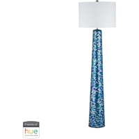 "Picture for category Floor Lamps 1 Light Fixtures With Turquoise Mosaic Finish Linen/Mosaic Glass Material E26 62"" 60 Watts"