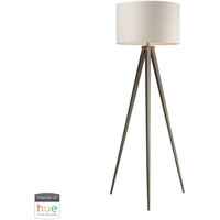 Picture for category Dimond Lighting D2121-HUE-D Floor Lamps Satin Nickel Steel Salford