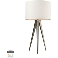 Picture for category Dimond Lighting D2122-HUE-B Table Lamps Satin Nickel Steel Salford