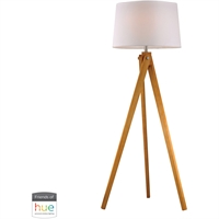 Picture for category Dimond Lighting D2469-HUE-B Floor Lamps Natural Wood Tone Wood Wooden Tripod