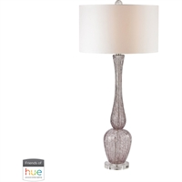 Picture for category Dimond Lighting D2726-HUE-B Table Lamps Radiant Orchid Glass Swirl Glass