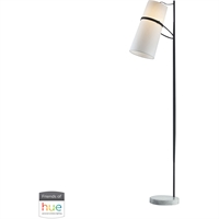 Picture for category Dimond Lighting D2730-HUE-D Floor Lamps Matte Black Metal Banded Shade