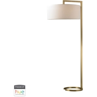 "Picture for category Floor Lamps 2 Light Fixtures With Antique Brass Finish Metal Material E26 60"" 120 Watts"