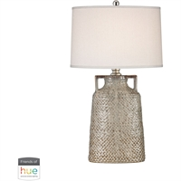 "Picture for category Table Lamps 1 Light Fixtures With Charring Cream Glaze Finish Ceramic/Metal Material E26 18"" 60 Watts"