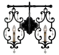 Picture for category Kalco Lighting 2632AC Wall Sconces Antique Copper Hand Forged Wrought Iron/Crystal Montgomery
