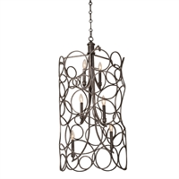 Picture for category Kalco Lighting 2760HB Pendants Heirloom Bronze Hand Forged Wrought Iron Ashbourne
