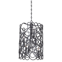 Picture for category Kalco Lighting 2762HB Pendants Heirloom Bronze Hand Forged Wrought Iron Ashbourne