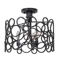 Picture for category Kalco Lighting 2764HB Semi Flush Heirloom Bronze Hand Forged Wrought Iron Ashbourne