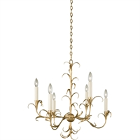 Picture for category Kalco Lighting 505471OL Chandeliers Oxidized Gold Leaf Steel Ainsley