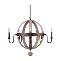 Picture for category Kalco Lighting 506871FG Chandeliers Florence Gold Hand Forged Iron Harper