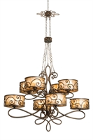 Picture for category Kalco Lighting 5413SV Chandeliers Aged Siler Hand Forged Iron/Mica Windsor