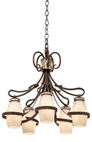 Picture for category Kalco Lighting 6022AC/SHELL Chandeliers Antique Copper Hand Forged Iron/Glass/Crystal Monaco