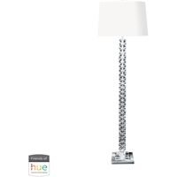 "Picture for category Floor Lamps 1 Light Fixtures With Clear Finish Crystal Material E26 18"" 60 Watts"
