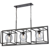 Picture for category Island Lighting 3 Light Fixtures With Oil Rubbed Bronze Finish Metal/Glass Material E26 Bulb 48""