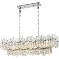 Picture for category Island Lighting 12 Light Fixtures With Chrome Finish Glass/Metal Material E12 Bulb 43""