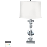 "Picture for category Table Lamps 1 Light Fixtures With Clear Finish Crystal Material E26 28"" 60 Watts"