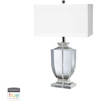"Picture for category Table Lamps 1 Light Fixtures With Clear Finish Crystal Material E26 9"" 60 Watts"
