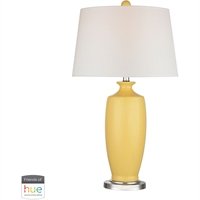 "Picture for category Table Lamps 1 Light Fixtures With Sunshine Yellow Finish Ceramic Material E26 27"" 60 Watts"