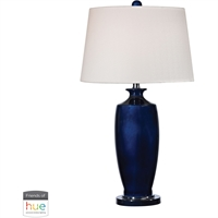 Picture for category World of Lights WLGT338744 Table Lamps Black Nickel with Nay Blue Glass/Metal Deneb