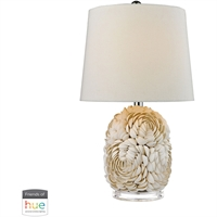 "Picture for category Table Lamps 1 Light Fixtures With Shell Finish Natural Shell Material E26 23"" 60 Watts"