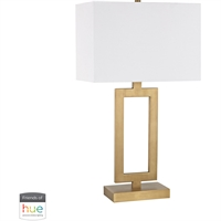 "Picture for category Table Lamps 1 Light Fixtures With Antique Brass Finish Metal Material E26 15"" 60 Watts"