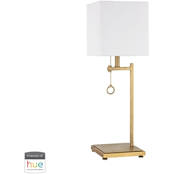 "Picture of Table Lamps 1 Light Fixtures With Antique Brass Finish Metal Material E26 25"" 60 Watts"