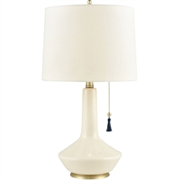 Picture for category Table Lamps 1 Light Fixtures With Cream and Gold with Nay Tassel Finish Ceramic/Metal Material E26 Bulb 12""