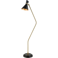 Picture for category World of Lights WLGT339112 Floor Lamps Black with New Aged Brass Metal Subra
