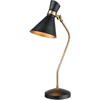 Picture for category World of Lights WLGT339113 Table Lamps Black with New Aged Brass Metal Subra