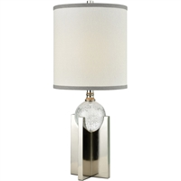 Picture for category World of Lights WLGT339119 Table Lamps Polished Nickel Metal/Crystal Dubhe