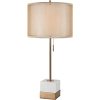 Picture for category World of Lights WLGT339184 Table Lamps White Marble with Brushed Gold Metal/Marble Zuben Elschemali