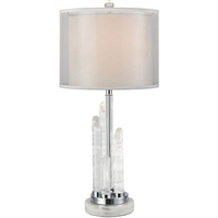Picture for category World of Lights WLGT339188 Table Lamps White Marble Crystal/Marble/Metal Acamar