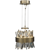 Picture for category Allegri 030210-038 Mini Pendants Brushed Champagne Gold Stainless Steel and Crystal Glacier