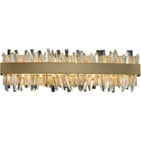 Picture for category Allegri 030232-038 Bath Lighting Brushed Champagne Gold Stainless Steel and Crystal Glacier