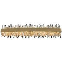 Picture for category Allegri 030233-038 Bath Lighting Brushed Champagne Gold Stainless Steel and Crystal Glacier