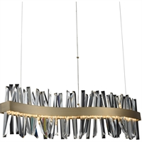 Picture for category Allegri 030250-038 Island Lighting Brushed Champagne Gold Stainless Steel and Crystal Glacier