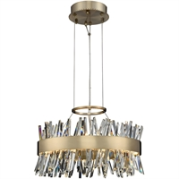 Picture for category Allegri 030253-038 Pendants Brushed Champagne Gold Stainless Steel and Crystal Glacier