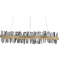 Picture for category Allegri 030258-038 Island Lighting Brushed Champagne Gold Stainless Steel and Crystal Glacier