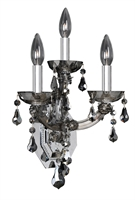 "Picture for category Wall Sconces 3 Light Fixtures With Chrome Finish Laser Cut Steel E12 Bulb 10"" 120 Watts"
