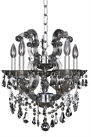 "Picture for category Chandeliers 5 Light Fixtures With Chrome Finish Laser Cut Steel E12 Bulb 16"" 200 Watts"