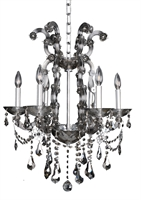 "Picture for category Chandeliers 6 Light Fixtures With Chrome Finish Laser Cut Steel E12 Bulb 24"" 240 Watts"
