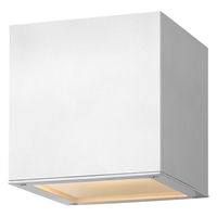 "Picture for category Satin White Tone Finish Wall Sconces 7"" Wide Extruded Aluminum LED 1 Light Fixture"