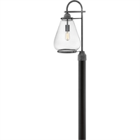 "Picture for category Outdoor Post 1 Light Fixtures With Aged Zinc Finish Aluminum Material Medium Bulb 10"" 100 Watts"
