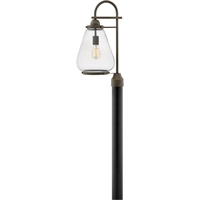 "Picture for category Outdoor Post 1 Light Fixtures With Oil Rubbed Bronze Finish Aluminum Material Medium Bulb 10"" 100 Watts"