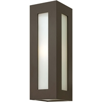 "Picture for category Wall Sconces 1 Light Fixtures With Bronze Finish Aluminum Material Medium Bulb 6"" 100 Watts"