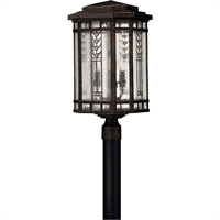 "Picture for category Outdoor Post 4 Light Fixtures With Regency Bronze Finish Aluminum Material Candelabra Bulb 12"" 160 Watts"