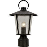Picture for category Crystorama Lighting AND-9207-SD-MK Outdoor Post Light Matte Black Steel Andoer