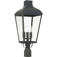 Picture for category Crystorama Lighting DUM-9807-GE Outdoor Post Light Graphite Steel Dumont