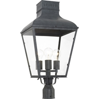 Picture for category Crystorama Lighting DUM-9808-GE Outdoor Post Light Graphite Steel Dumont